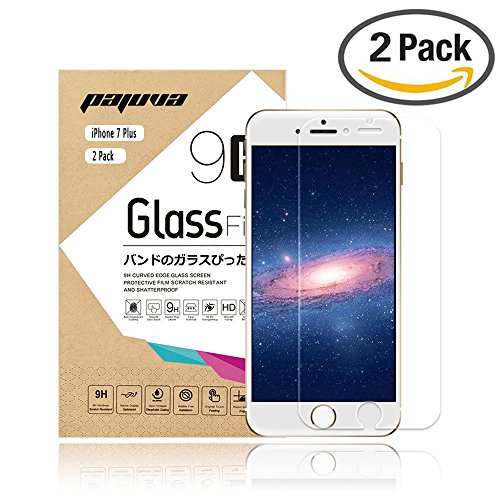 iPhone 7 Plus Screen Protector Tempered Glass, Pajuva 2.5D Rounded Egde 9H HD for Apple iPhone 7 Plus (2 Pack) (Heat Sensitive Iphone Case compare prices)