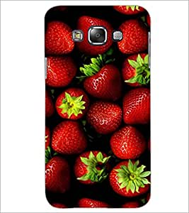 PrintDhaba Strawberries D-4336 Back Case Cover for SAMSUNG GALAXY A7 (Multi-Coloured)