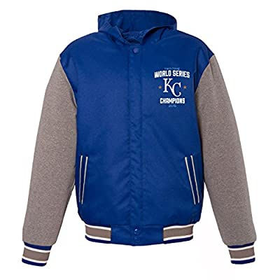 Kansas City Royals 2015 World Series Champions Poly Twill Fleece Sleeve Jacket