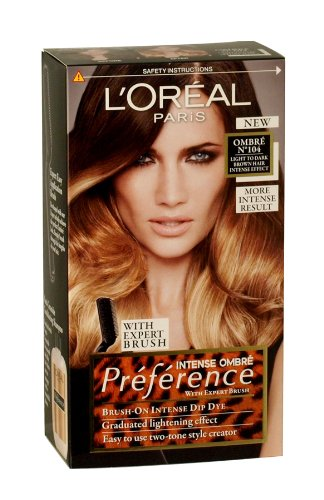 l 39 oreal preference wild ombres dip dye hair kit ombre no 104 light to dark brown intense effect. Black Bedroom Furniture Sets. Home Design Ideas