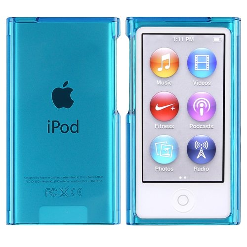 Theo&Cleo Clear Blue Slim Hard Plastic Case Cover Skin For Apple iPod Nano 7 G Gen 7th 7G bluecell clear tpu flexible case cover for apple ipod nano 7th generation