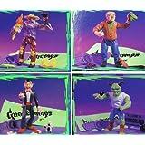 Set of 4 Goosebumps Monster Bags - Slappy the Dummy, Scarecrow, Mr Mortman, Horror From Horrorland - Action Figures