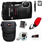 Olympus Stylus Tough TG-850 Digital Camera (Black) + 16GB Memory Card + Standard Large Digital Camera Case + Accessory Kit