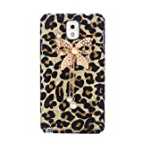 EVERMARKET(TM) Bling Diamond Gold Bow Leopard Hard Case Cover for Samsung Galaxy S2 II T989