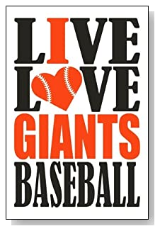 Live Love I Heart Giants Baseball lined journal - any occasion gift idea for San Francisco Giants fans from WriteDrawDesign.com