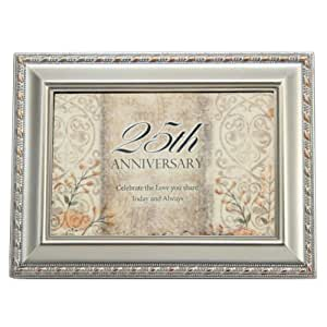 25th Wedding Anniversary Gifts Jewelry : ... 25th Wedding Anniversary Jewelry Music Box - For Jewelry or Gift Cards