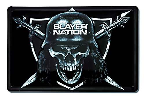 Slayer - Nation Targa metallo - Retro - 30x20 - design originale concesso su licenza