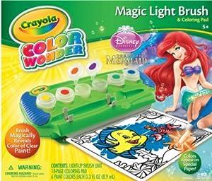 Crayola Color Wonder Magic Light-up Brush Little Mermaid Ariel Disney