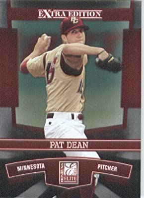 2010 Donruss Elite Extra Edition Baseball Card # 53 Pat Dean - Minnesota Twins (XRC - Rookie Card - Prospect) MLB MLB Trading Card