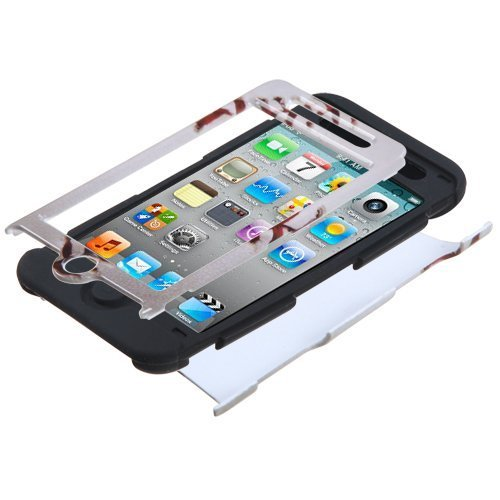 Bastex Hybrid Case for Apple Ipod Touch 4, 4th Generation - Silicone / Hard ipod touch 5 case e lv ipod touch 5 case hard and soft hybrid armor defender sports combo case for apple ipod touch 5 itouch 5th generation with 1 screen protector 1 black stylus 1 water resistant bag and 1 e lv microfiber digital cleaner