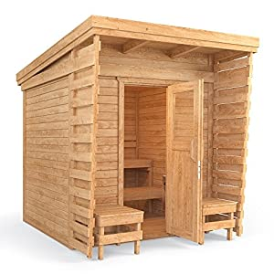 Outdoor Sauna Sauna Cabin Sauna 2x2m Solid Wood Panel Roof