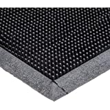 "Durable Corporation Heavy Duty Rubber Fingertip Entrance Mat, for Outdoor Areas, 24"" Width x 32"" Length x 5/8"" Thickness, Black"