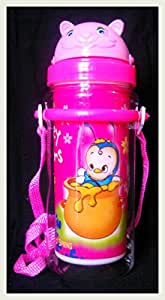 Pawan Plastic kiti transparent pink Sipper Water Bottle for kids