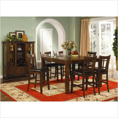 Buy Low Price Lifestyle California Eureka Counter Height Square Dining Table in Distressed Dark Pecan (16-747)