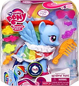 my little pony fashion style pony rainbow dash jeux et jouets