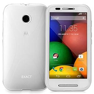 Exact Motorola Moto E Case [JUMP Series] - X-Line SoftGel Flexible TPU Case for Motorola Moto E (XT1021 / XT1022 / XT1025) Clear
