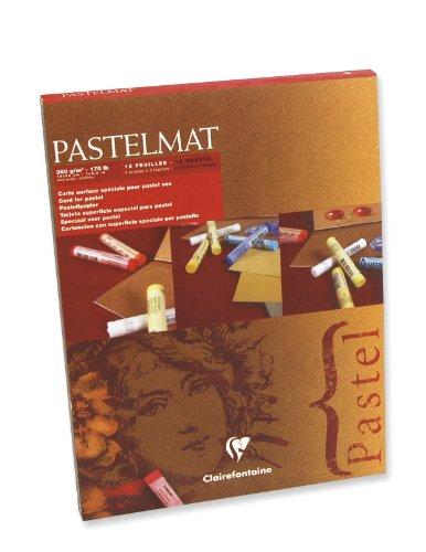 Bloc papier pastelmat 4 teintes 360 grammes 18 x 24 cm 12 feuilles coloris de feuilles assortis dans le bloc