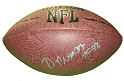 Demaryius Thomas Autographed NFL Wilson Composite Football, Denver Broncos, Georgia Tech Yellow Jackets, Proof Photo
