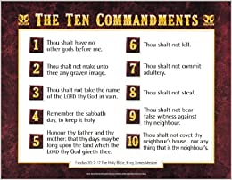 KJV Ten Commandments wall Ten Commandments For Kids Kjv