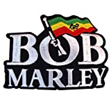 BOB MARLEY MUSIC Guitarist Ska Rocksteady Embroidered Iron On Patches WITH FREE GIFT (Color: Multicoloured)