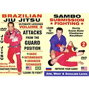 Brazilian Jiu Jitsu Attacks From the GUARD Position: Sambo Submission Fighting, Arm, Wrist and Shoulder Locks - Unbeatable Grappling and Self-Defense 2 DVD Boxed Set! movie