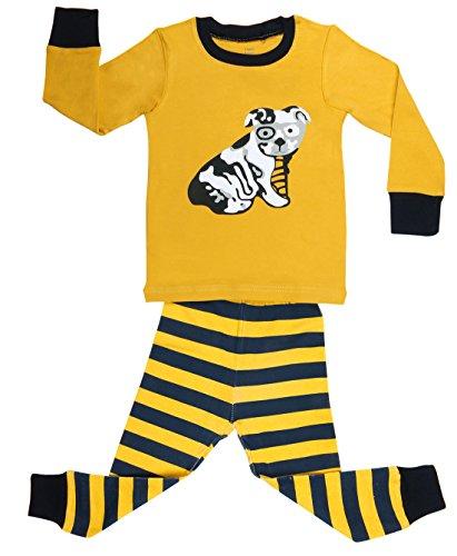 "Elowel Yellow ""Dog"" 2 Piece Pajama Set 100% Cotton - 2 Toddler front-1063075"