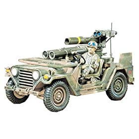 U.S. M-151 Jeep with Tow Missile Launcher by Tamiya