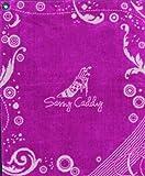 Sassy Caddy Women's Golf Towel, Pink/White