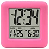Equity by La Crosse 70902 Soft Cube LCD Alarm Clock Pink