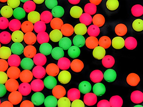 50pcs-6mm-czech-glass-round-pressed-beads-estrela-neon-uv-active-warm-neon-mix