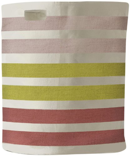 Pehr Designs 3 Stripe Hamper, Pink/Citron