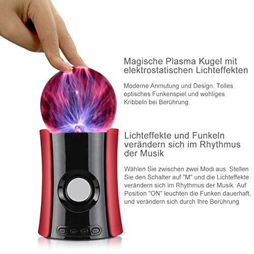1byone Magic Music Plasma Ball Fantastic Flashing/lighting ...