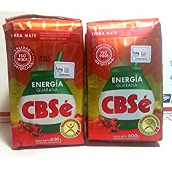 YERBA MATE CBSE ENERGY - GUARANA FLAVOR - ENERGIA - 500 GR/1.1 LB (2 PACK)