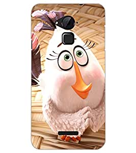 PrintDhaba CUTE HEN D-7033 Back Case Cover for COOLPAD NOTE 3 LITE (Multi-Coloured)