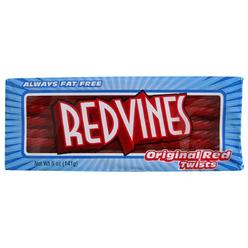 American Licorice Red Vines, Original Red Twists, 5-Ounce Packages (Pack of 24)