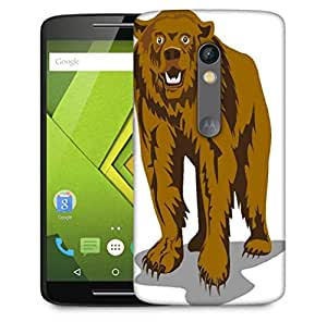 Snoogg Brown Bear Designer Protective Phone Back Case Cover For Motorola Moto X Play