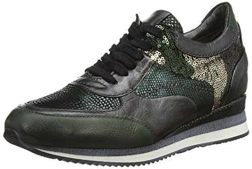Mjus 781105, Low-Top Sneaker donna, Verde (Grün (British+Nero+British+TDM+Nero+British)), 41