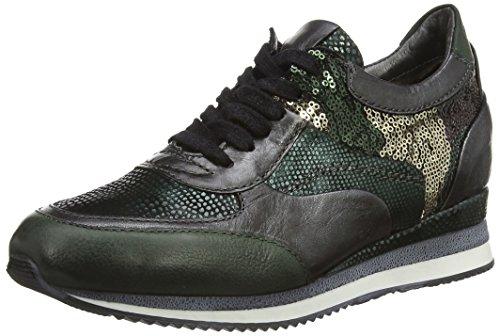 Mjus 781105, Low-Top Sneaker donna, Verde (Grün (British+Nero+British+TDM+Nero+British)), 41