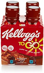 Kellogg's Breakfast To Go Shake, Milk Chocolate (4 Count, 10 Fl Oz Each)