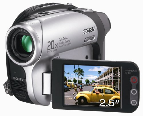 Sony DCR-DVD202E Handycam DVD Camcorder (1MP, 12x Optical Zoom, Wide Hybrid LCD)