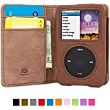 Snugg iPod Classic Case - Flip Cover & Lifetime Guarantee (Brown Leather) for Apple iPod Classic