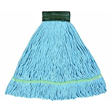 "Wilen A02601, J W Atomic Loop Wet Mop, Small, 5"" Mesh Band, Blue (Case of 12)"