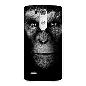 Chimp King Black Back Case Cover for LG G3 Mini