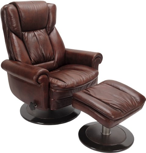 Swivel Recliner With Ottoman front-423468