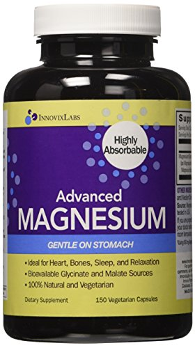 Advanced-MAGNESIUM-by-InnovixLabs-Highly-Bioavailable-Bisglycinate-Malate-Formula-150-Vegetarian-Capsules-200-mg-Magnesium-per-serving