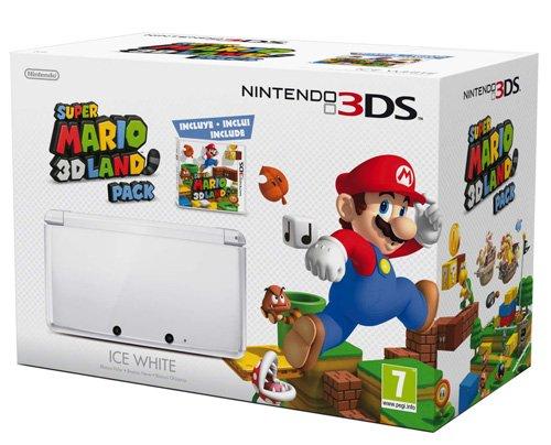 Nintendo 3DS - Console, Bianco Ghiaccio + Super