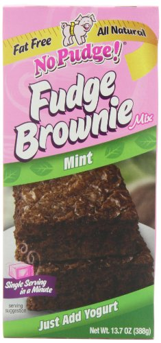 No Pudge! Fat Free Fudge Brownie Mix, Mint, 13.7-Ounce Boxes (Pack of 6)