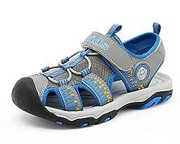 Ausom Boy\'s Girl\'s Summer Closed-Toe Strap Athletic Water Sandal (Little Kid/Big Kid)