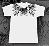 "CORRUPT INC. ""SIX SHOOTER"" WHITE MMA SHIRT SIZE XX-LARGE"