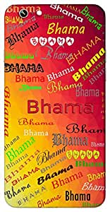 Bhama (Prayer Passionate Famous Loving) Name & Sign Printed All over customize & Personalized!! Protective back cover for your Smart Phone : Samsung Galaxy Note-5